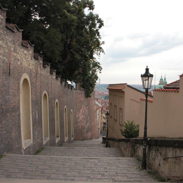 Sulla strada per raggiungere il Castello Di Praga